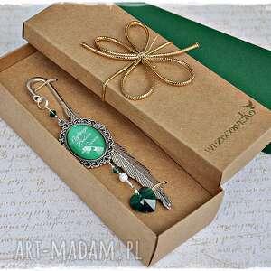zakładki prezent dla babci - elegancka zakładka ze swarovskim, zakładka, dzień