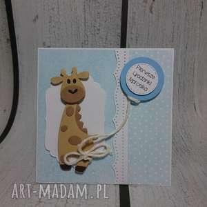 kartka zaproszenie ukochana zyrafka - żyrafka, zaproszenie, urodziny, roczek, chrzest