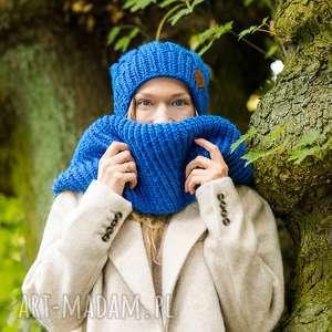 komin bluestone, szalik, szal, zimowy ciepły, miękki