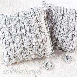 poduszki robione ręcznie wełna 40x40 cm 2szt, poduszki, poduszka, poszewka