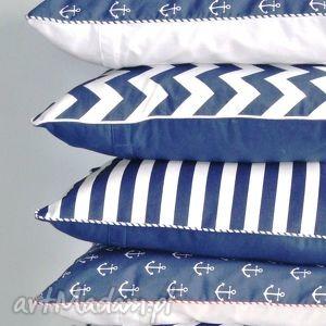 Komplet 5 poszewek na poduszki w stylu marynarskim, poduszka, poszewka, marine