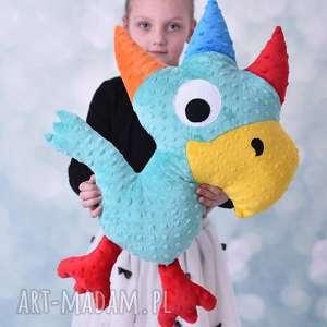 maskotki poduszka dziecięca papuga, przytulanka minky, fajny