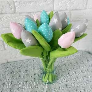 ręcznie robione dekoracje wysokie bawełniane tulipany