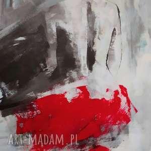 red y-obraz-kobieta, czerwony-obraz, duże-obrazy, niebieski-obraz, kobieta-grafika,