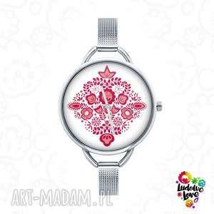 zegarki zegarek z grafiką kujawy, kujawskie, folk, ludowe, prezent, etniczne, grafika