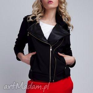 ramoneska, kr101 czarny - biker, ramoneska, kurtka, zamek, czarna