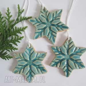 dekoracje zestaw 3 zawieszek gwiazdek, zawieszki, do prezentów, ozdoby choinkowe