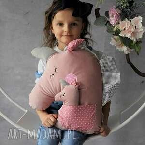 ręcznie zrobione maskotki poduszka dziecięca jednorożec z dzieckiem