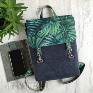 handmade plecak w liście palmy