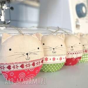 Kocie bombki - ,kocie,kot,zawieszki,bombki,świąteczne,ozdoby,