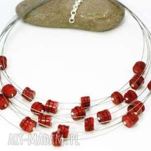 naszyjnik koral, naszyjnik, linki, jubilerskie, oryginalny, piękny biżuteria