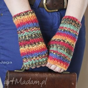 hand made rękawiczki mitenki w kolorach jesieni