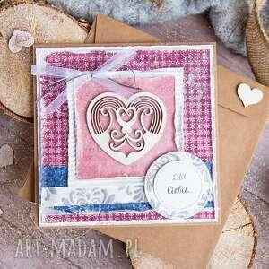 mrufru kartka z sercem, mówiąca o miłości personalizacja, dla niej