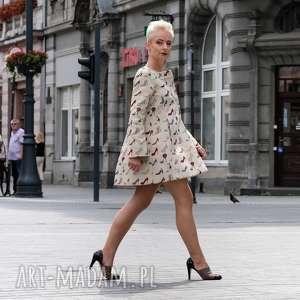 płaszcze płaszcz head over heels, jesień, zima, oversize, gobelin, polska marka