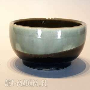 ceramika miseczka szaro - czarna, miseczka, miska, ceramika, glina, rękodzieło