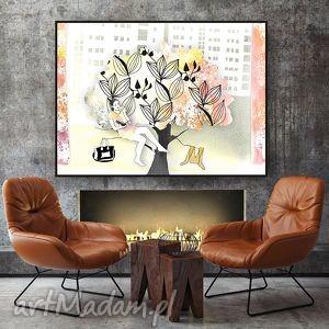 parallel world miły dzień w mieście - ilustracja a4, grafika, ilustracja, akwarela