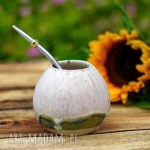 ceramiczne naczynie do yerba mate / matero handmade - w kolorze