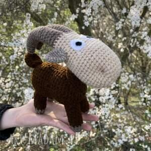 hand-made maskotki meeelunia - szydełkowa koza