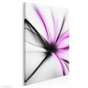 obraz na płótnie -abstrakcja kwiat nowoczesny fuksja - w pionie 50x70