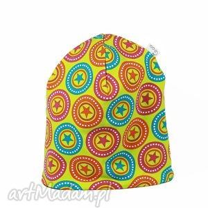 Ciepła czapka kolorowe gwiazdki, ciepła, czapka, gwiazdki