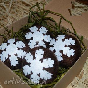 bombki choinkowe-boże narodzenie 8cm komplet 4szt, dekoracjeświąteczne, naturalne