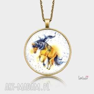 naszyjniki medalion okrągły koń, prezent, konik, stadnina, kopyto, podkowa