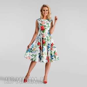 Sukienka SCARLETT Midi Ariana, rozkloszowana, kwiaty,