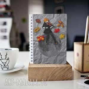 notesy notes a5, zeszyt, kobieta, liście, skoroszyt, prezent, oryginalne