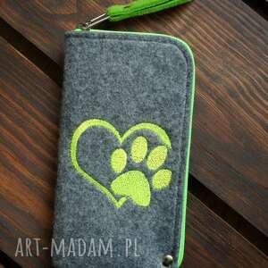 filcowe etui na telefon - łapka, smartfon, pokrowiec, prezent, motyw zwierzęcy