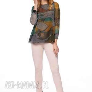 święta, bluzka dubravka, szyfonowa, wzorzysta, oryginalna, cienka, jesienna