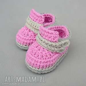 Prezent Buciki Cardiff, buciki, trampki, dziecięce, niemowlęce, prezent, szydełkowane