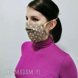 Maseczka ochronna bawełna - kropeczki maseczki gabiell maska