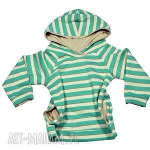 paski bawełniana bluza raglanowa z kapturem, dla dziewczynki, rozmiary