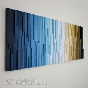 mozaika 3d, obraz drewniany rytm, wallart, mozaika, obraz, scianka