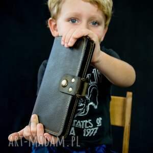 ręcznie zrobione portfele oryginalny portfel kolor khaki od ladybuq, ręczne wykonany