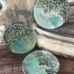 unikalny, talerzyki, ceramika artystyczna, rękodzieło, dla domu