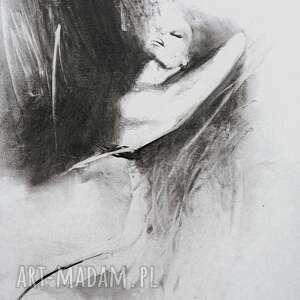 świąteczny prezent, black white 60x45, czarno biała grafika, grafika do salonu