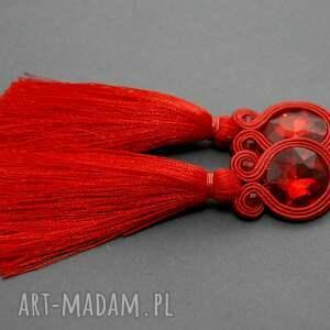 prezenty na święta, kolczyki sutasz z chwostem, sznurek, eleganckie, wiszące