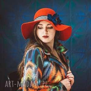 Hiszpański kapelusz czapki fascynatory kapelusz, filc, czerwony