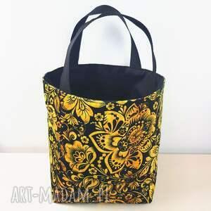 bogo lunchbag śniadaniówka torba w kwiaty na zakupy, bogo, camel
