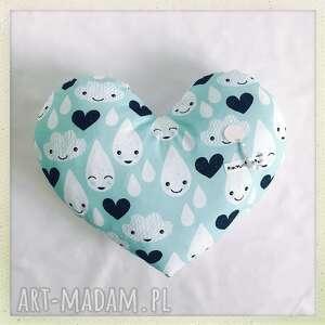 poduszka serce krople - krople, mięta, serce