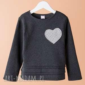 Bluza DB03G, wygodna, serce, stylowa, modna, bluza