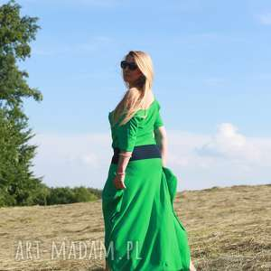 spodnie zielony przylądek-kombinezon, boho kombinezon, maxi sukienka, luzne spodium