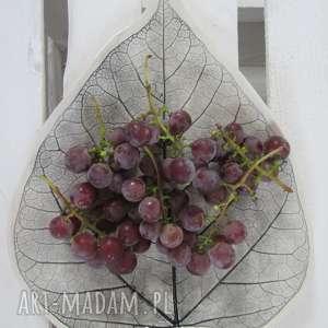 patera liść - ,ceramiczna,talerz,roślinny,ceramiczny,odbicie,liścia,