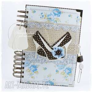Notes zamykany na kłódkę scrapbooking notesy jelonkaa notes
