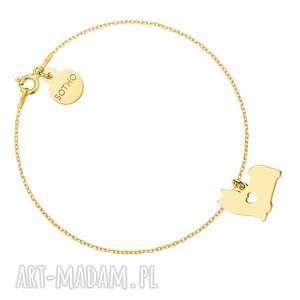 handmade bransoletki złota bransoletka z psem rasy shih tzu