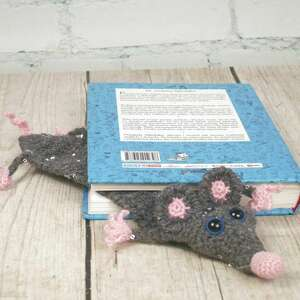 handmade zakładki glam szczurek zakładka do ksiązki
