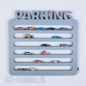 pokoik dziecka półka na resoraki samochodziki parking hot wheels szary
