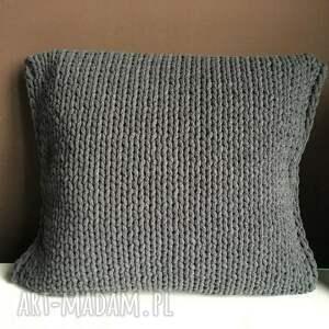 poduszka ze sznurka bawełnianego marysia 45x45 cm, poduszka, poduszki