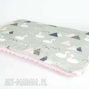 pokoik dziecka płaska poduszka minky - łabędzie 40x60 cm, poduszka, poszewka